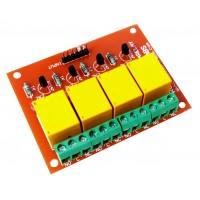 4 Channel +5V/6V Relay Board Module For PIC AVR DSP ARM Arduino AVRDuino