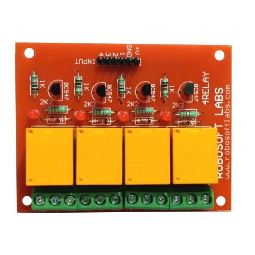 4 Channel Relay Board Module For PIC AVR DSP ARM Arduino AVRDuino