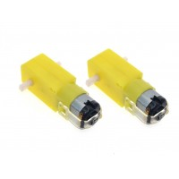 DC BO Gear Motor Dual shaft for Smart Car Robot [2 Pieces]
