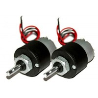 12V Dc 300 Rpm Geared Motor [2 pieces]