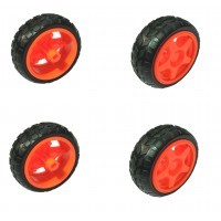 Rubber Wheels for BO Motor Robot Car 65mmx25mm, 4 Pieces