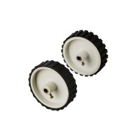White Tyre / Wheel 7x2 inch for Robotics , DIY, Dc Gear Motor, Robowar [ 2 Pieces ]