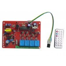 IR 4 CH Remote Control Based Wireless Home Automation i.e. Lights / Fans On / Off Module