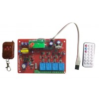 IR & RF 4 Channel Remote Control Based Wireless Home Automation i.e. Lights / Fans On / Off Module