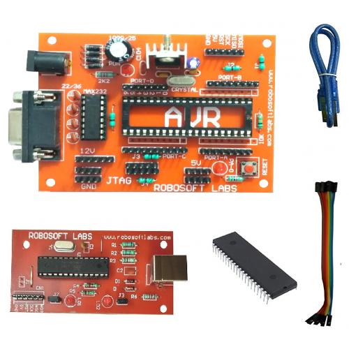 AVR (ATMEGA 16 / ATMEGA32) DEVELOPMENT BOARD With MAX232