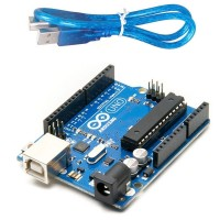 Arduino Uno R3 ATmega328P with USB Cable (Color may vary)