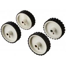 White Tyre / Wheel 7x2 inch for Robotics , DIY,  Dc Gear Motor, Robowar [ 4 Pieces ]