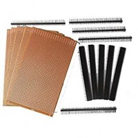 General Purpose Printed Circuit Board, 5 Pieces + Female Berg Strip, 5 Pieces + Male Berg Strip, 5 Pieces