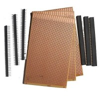 General Purpose Printed Circuit Board, 3 Pieces + Female Berg Strip, 3 Pieces + Male Berg Strip, 3 Pieces
