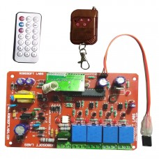 IR & RF 5 CH Remote Control Based Wireless Home Automation i.e. Lights / Fans On / Off Module