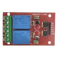 2 Channel +5V/6V OPTOCOUPLER BASED Relay Board Module for ALL MICROCONTROLLER
