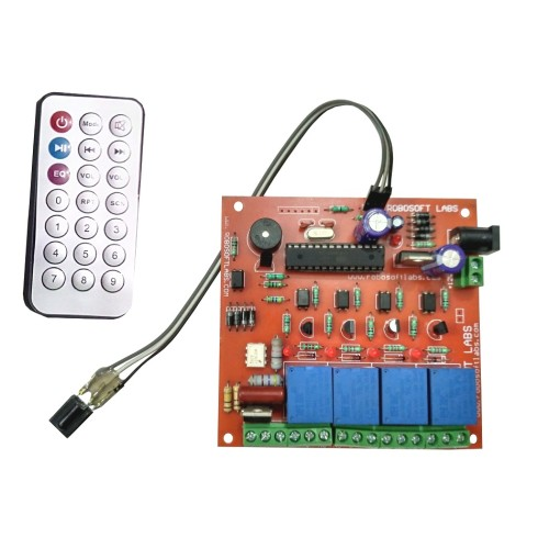 IR 5 Channel (4 Lights +1 FAN Speed) Remote Control Based
