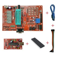PIC 40PIN Development Board with 16F877A, MAX232 , RTC , AT24C32, ULN2003 IC & PROGRAMMER