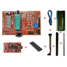PIC 40PIN Development Board with 16F877A, MAX232 , RTC , AT24C32, ULN2003 IC , LCD & PROGRAMMER