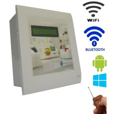 Android / Windows / WIFI / BLUETOOTH / REMOTE Based Smart Home Automation (2 devices) 15 Ampere LCD DISPLAY