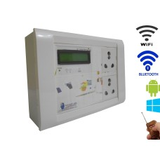 Android / Windows / WIFI / BLUETOOTH / REMOTE Based Smart Home Automation (2 SOCKET) 15 Ampere LCD DISPLAY