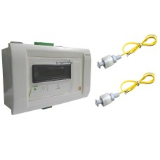 Fully Automatic Water Level Indicator / Controller with Overflow Alarm and Motor Control (2 LCD Level Indication) Float sensor based