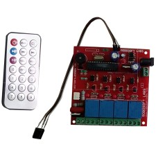 IR 5 Channel Remote Control Based Wireless Home Automation i.e. Lights / Fans On / Off Module