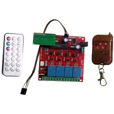 IR & RF 5 Channel Remote Control Based Wireless Home Automation i.e. Lights / Fans On / Off Module