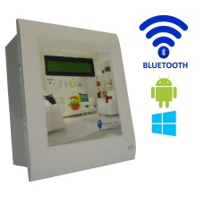 Android / Windows / bluetooth Based Home Automation (4 device support) LCD Display Control electrical devices from android and windows